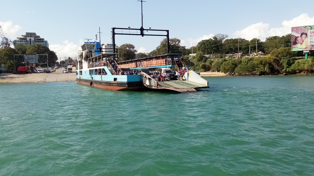 The Likoni Ferry in Mombasa, Kenya