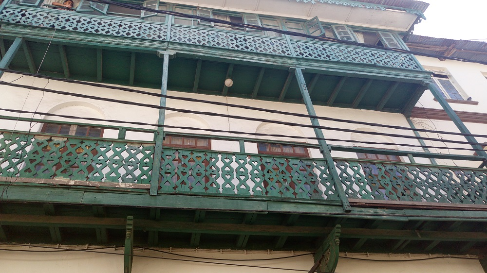 Ornate balconies in Mombasa Old Town