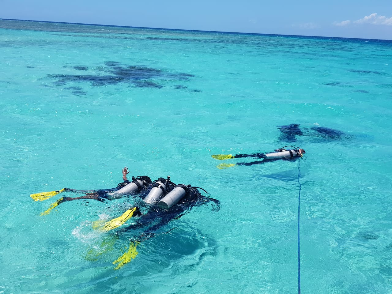 Tourists Snorkeling at Kisite Mpungiti Coral Gardens