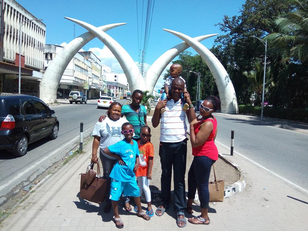 My family in Mombasa
